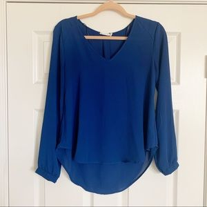 Nordstrom cobalt blouse